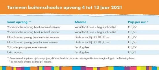 Tarieven_Buitenschoolse opvang 4-13 jaar 2021 klein
